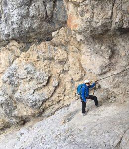 Möller Horcher Mitarbeiterin Sandy Wilzek beim Klettern