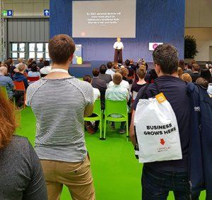 Gabriele Horcher Vortrag auf der Cebit 2018