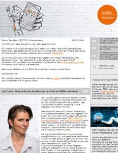Screenshot Möller Horcher Newsletter Janaur 2018