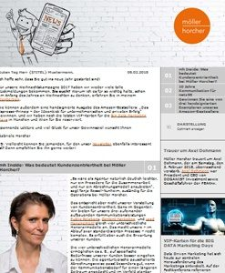 Screenshot Newsletter 01/2018 der Möller Horcher PR GmbH