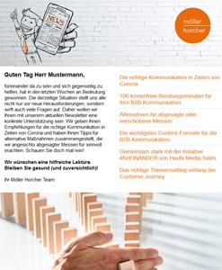 Screenshot Newsletter 2/2020 der Möller Horcher Kommunikation GmbH