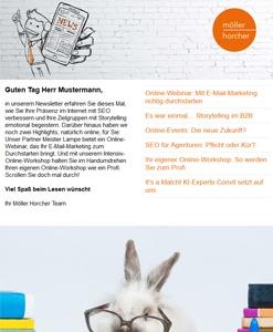 Screenshot Newsletter 4/2020 der Möller Horcher Kommunikation GmbH