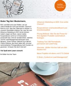 Screenshot Newsletter 5/2020 der Möller Horcher Kommunikation GmbH