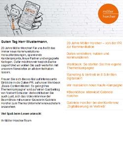 Screenshot Newsletter 6/2020 der Möller Horcher Kommunikation GmbH