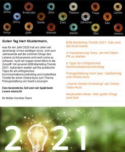 Screenshot Newsletter 7/2020 der Möller Horcher Kommunikation GmbH